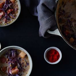 702d50be f2d0 4664 b6a3 fee2b55cebcf  2015 0330 red cabbage and sausage soup bobbi lin 0493