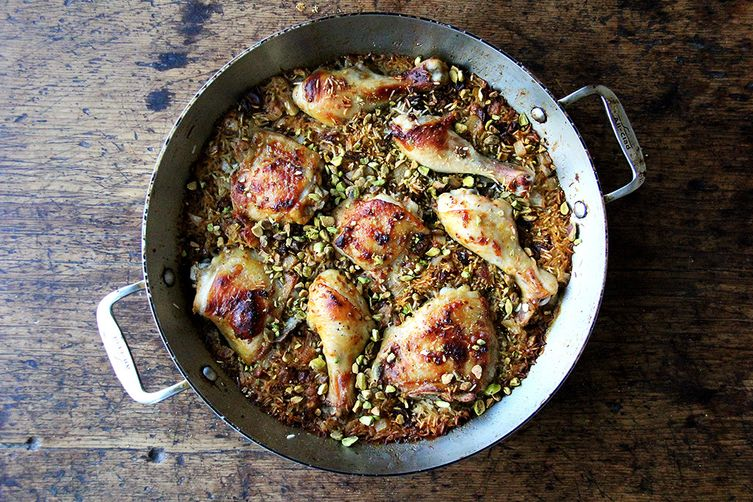 Moroccan spiced chicken and rice with dates and pistachios recipe on moroccan spiced chicken and rice with dates and pistachios forumfinder Image collections