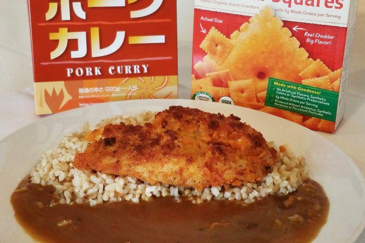 Crusted Cheddar Squares Fish Katsu