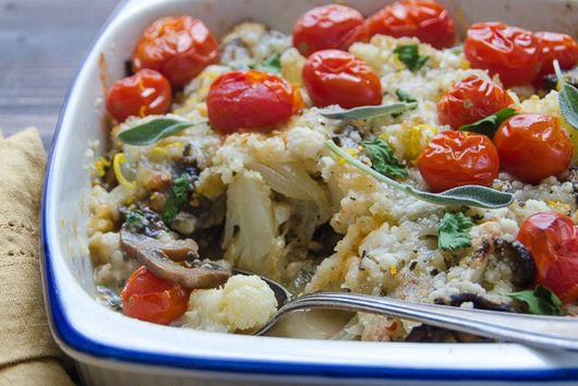 Cauliflower and Mushroom Gratin