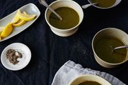 Green Vegetable Soup with Miso