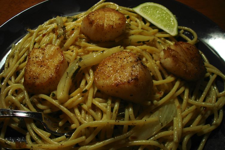 Grilled Scallops With Fennel Recipe — Dishmaps
