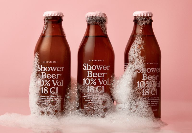 Look. A Shower Beer, emerging from bubbles.