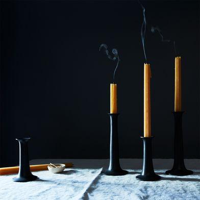 Modern Black Candlesticks (Set of 2)