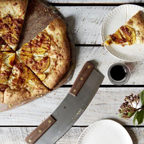Walnut Handled Pizza Rocker