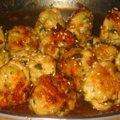Honey-Lemon Glazed Turkey Meatballs