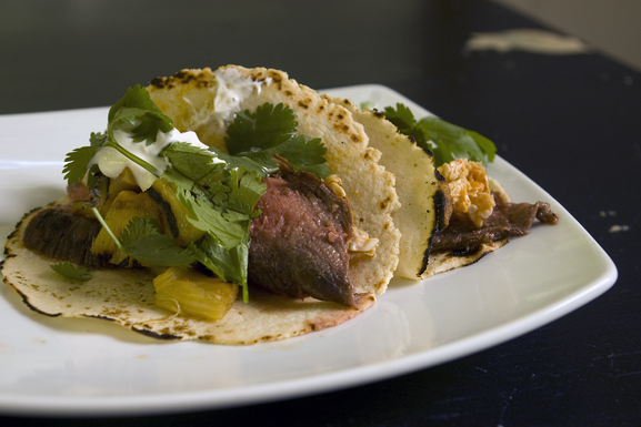 Spicy Sweet and Sour Steak Tacos