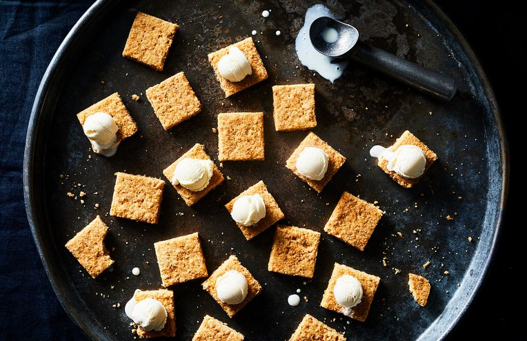 Salty-Sweet Sugar Cone Shortbread Loves Ice Cream As Much As You Do