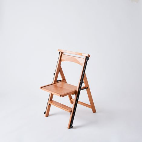 Convertible Wooden Chair Ladder, 4 Step