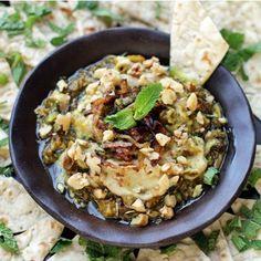 Kashke Bademjan ~ Persian Style Roasted Eggplant Dip