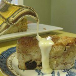 Cider Donut Bread Pudding with Applejack Sauce