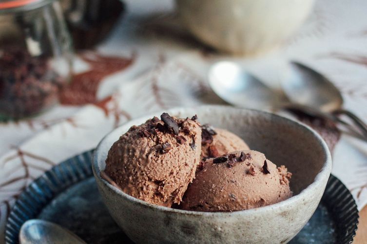 Salted Double Chocolate Ice Cream