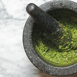 Three Quick Olive Oil Sauces: Pesto, Salsa Verde, and Chimichurri