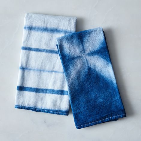 Shibori Flour Sack Tea Towels (Set of 2)
