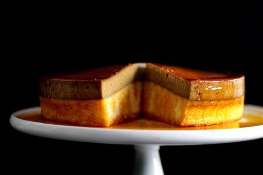 Caramel espresso flan cake