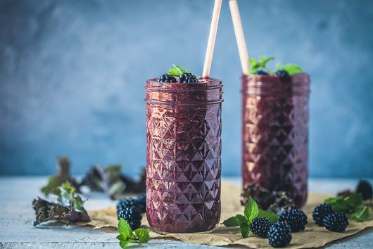 Blackberry Kale Smoothie