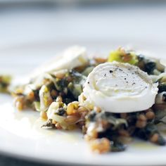 Fabulous Farotto with kale and goat cheese