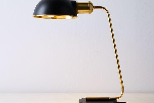 Brass & Steel Desk Lamp