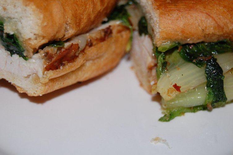 Turkey Porchetta and Sweet 'Scarole Paninis