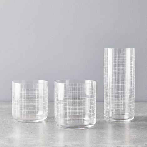 Grid Glasses (Set of 4)