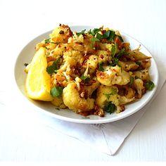 Lemony Roasted Cauliflower with Garlic & Oregano