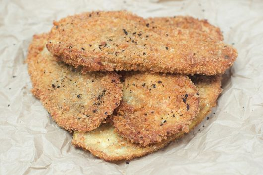 Crispy Fried Shawarma-Spiced Eggplant Slices