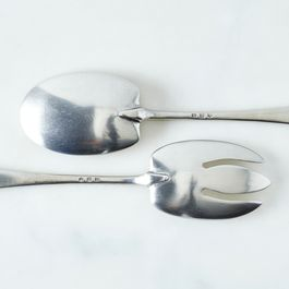 Pewter Serving Fork & Spoon