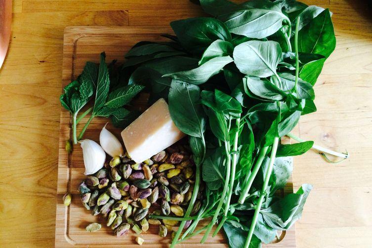 Basil, Mint & Pistachio Pesto