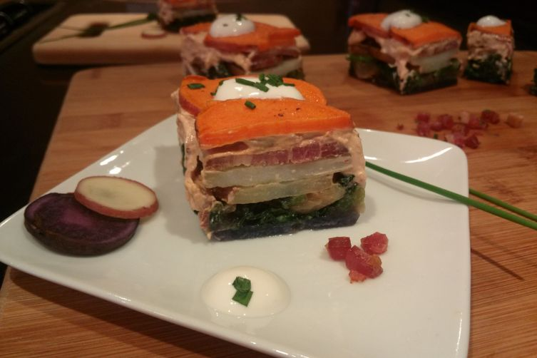 Tri-Color Potatoe Napoleons