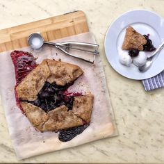Whole Wheat Cherry-Lime Galette