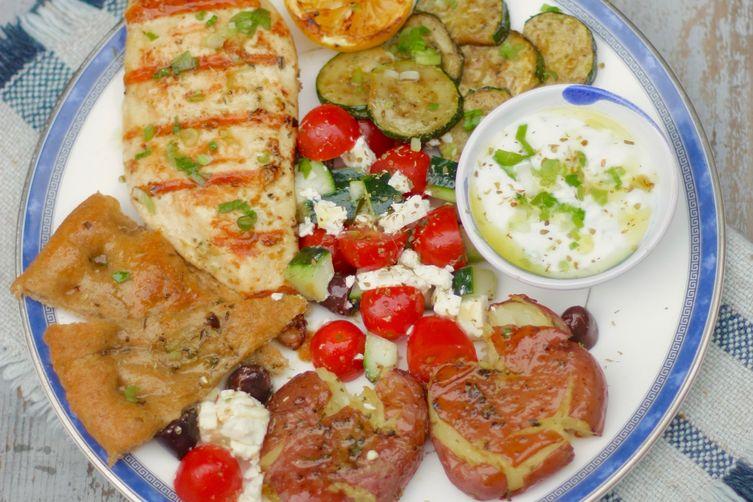 Grilled, Greek-Style Chicken