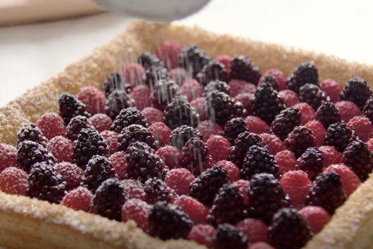 Raspberry & Blackberry Puff Pastry Tart