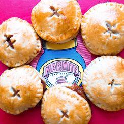 Marmite onion & cheddar mini pies