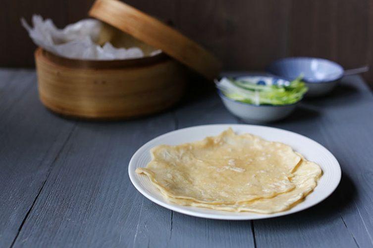 4 ingredients Peking duck pancakes
