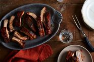 Smoked Back Ribs with Roasted Tomato, Honey & Chipotle Glaze