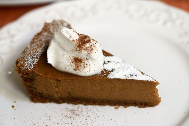 Pumpkin Tart with Cookie Butter Crust