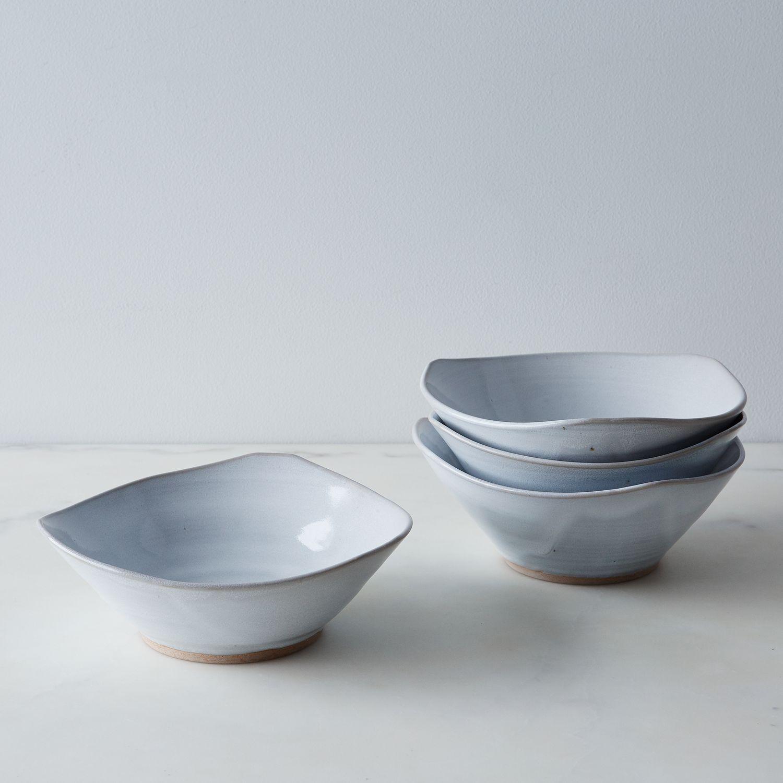 Triangle Salad Bowls Set Of 4 Ceramic Bowl
