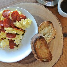 spicy calabrese scrambled eggs