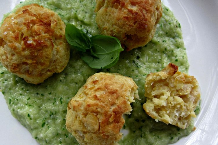 """Roasted Spring Onion and Chickpea """"Meat"""" Balls"""
