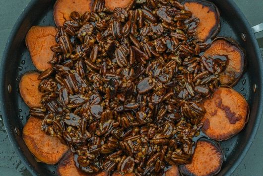 Ceily's Candied Sweet Potatoes with Praline Pecans