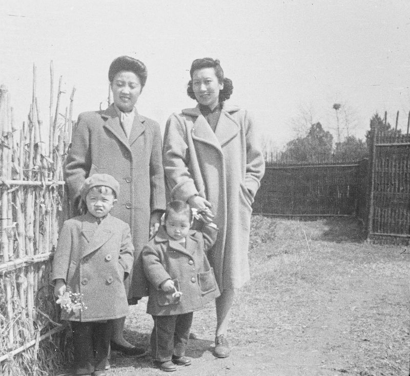 Joyce and her sister-in-law, Lucy, with Henry and Helen in 1948. Courtesy Stephen Chen.