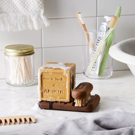 Andrée Jardin x Fer à Cheval Marseille Soap With Wood Stand & Brush