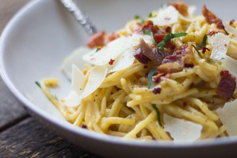 Butternut Squash Spaghetti Carbonara