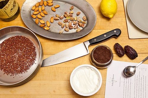 Yogurt with Toasted Quinoa, Dates, and Almonds Recipe on ...