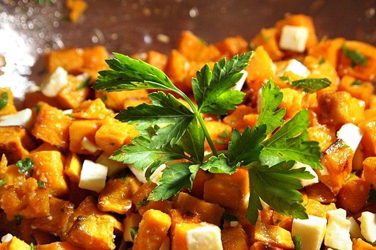 Sweet Potato and Feta Cheese Salad
