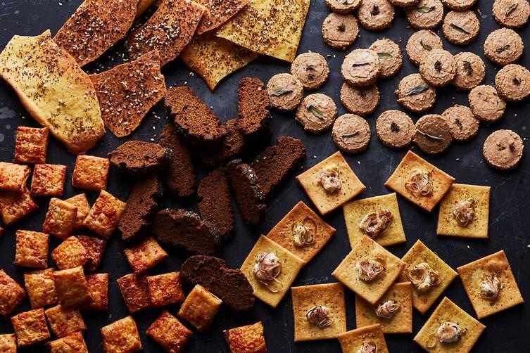 Twice-Baked Pumpernickel Crackers