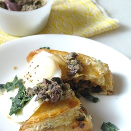 Puff Pastry packed with Kale, Chevre and Sausage