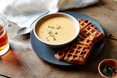 41b3b23d 5360 40a0 a452 e67a08926d53  2015 0720 tomato soup and st andre waffled grilled cheese sandwiches mark weinberg 245