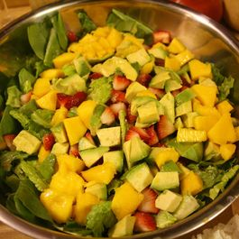 Tri - Colored Spinach salad with Tangy Reduction dressing