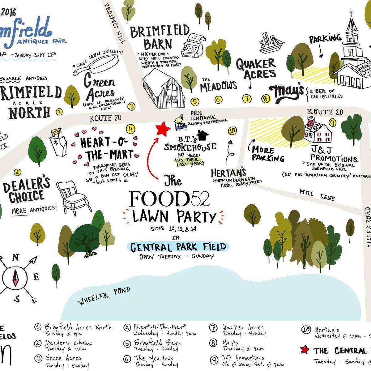 Brimfield Flea Market : Brimfield Map